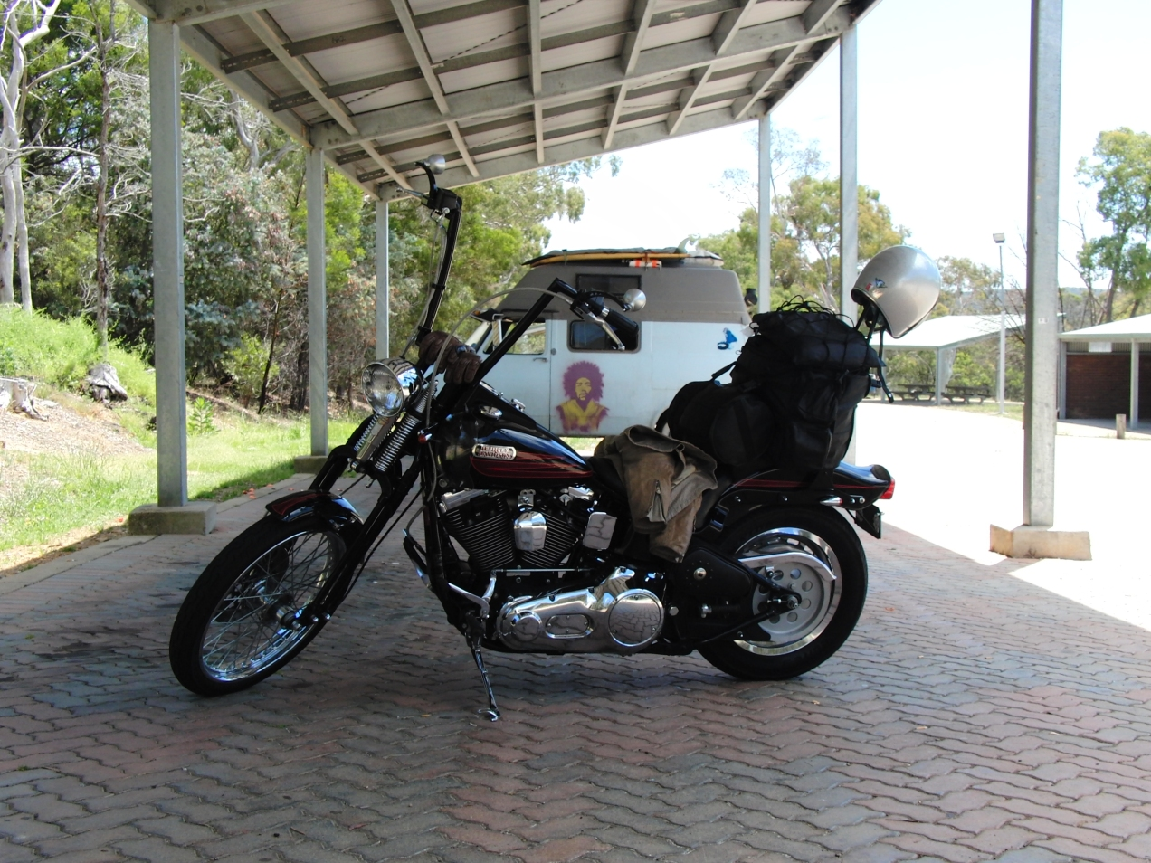harley-davidson-softail-springer-1995-bad-boy-FXSTSB-evolution-1340-thunderheader-carlini-evil-apehangers-cycle-vision-tall-sissybar-joker-machine-mirrors-psalmistice_CIMG2066