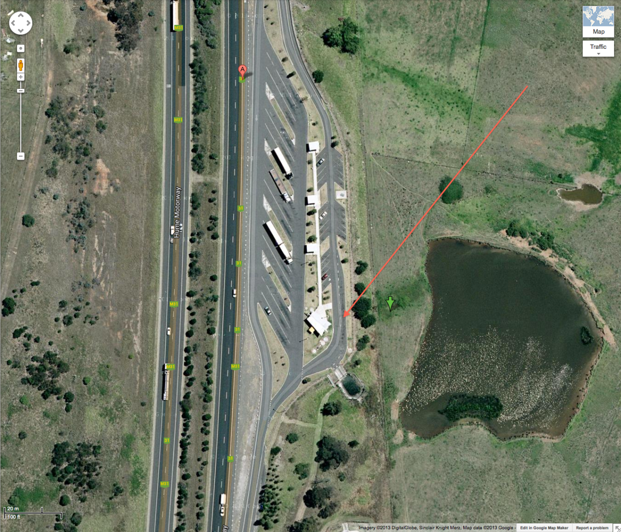 Hume Highway NSW, Douglas Park rest area