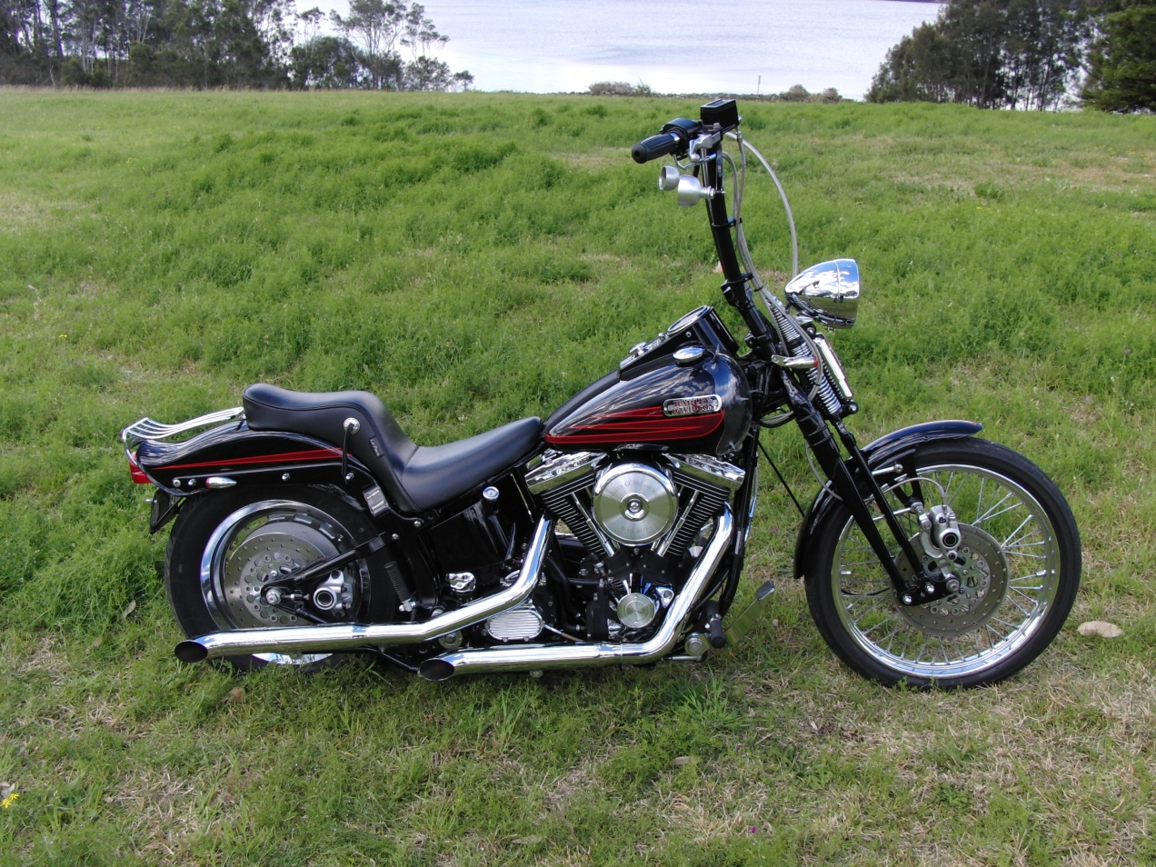 harley-davidson-softail-springer-1995-bad-boy-FXSTSB-evolution-1340-carlini-evil-apehangers-lepera-le-pera-cherokee-seat-jeremiah-watt-slotted-concho-joker-machine-mirrors-psalmistice_CIMG2870