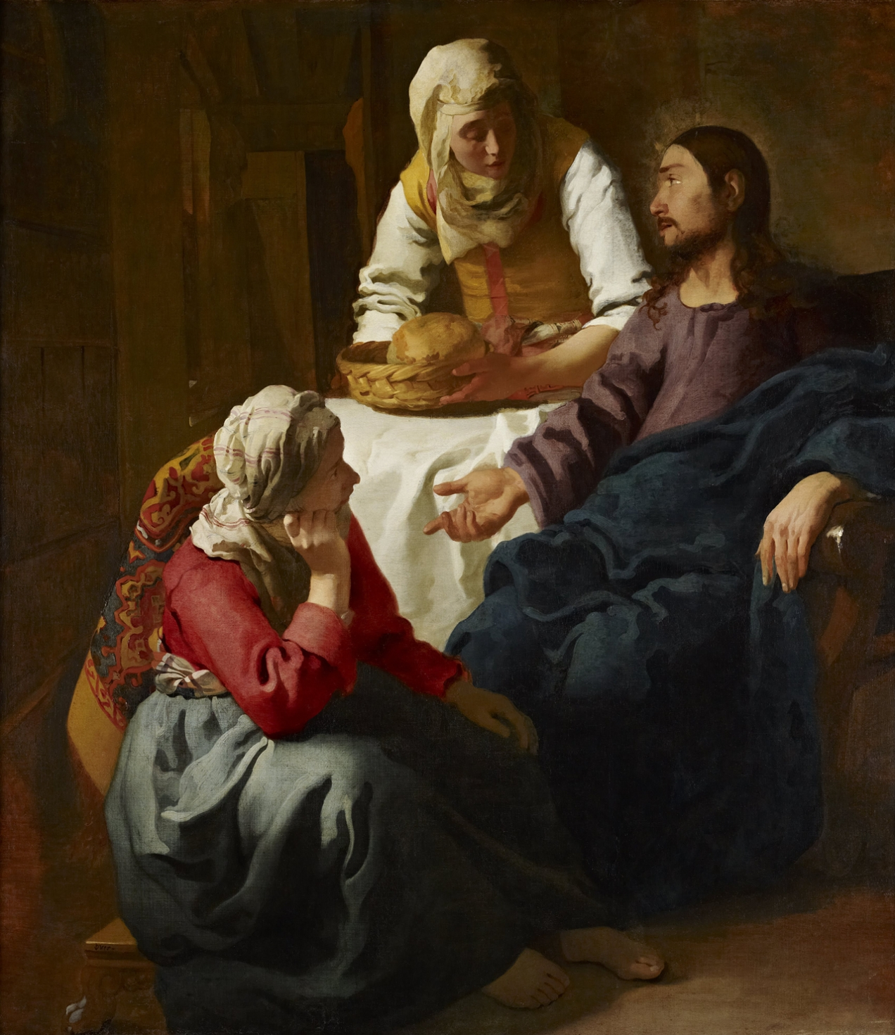 Christ in the House of Martha and Mary;  Johannes Vermeer (1655)