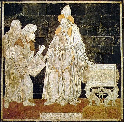 Hermes Trismegistus, floor mosaic in the Cathedral of Siena (Source: Wikipedia)