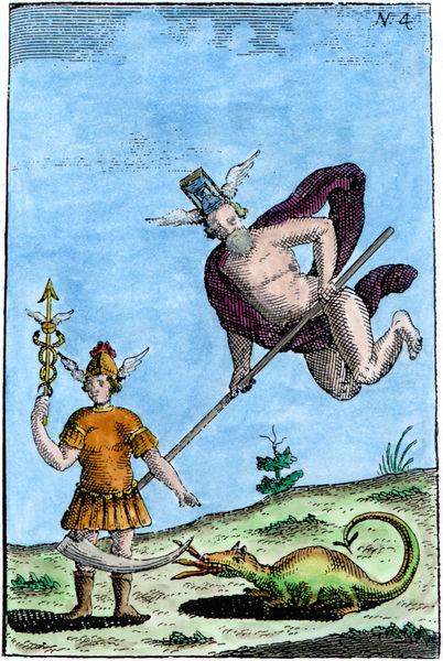 Abraham Eleazar, Uraltes chymisches Werck, 'Flamel', Erfurt, 1735_EL04