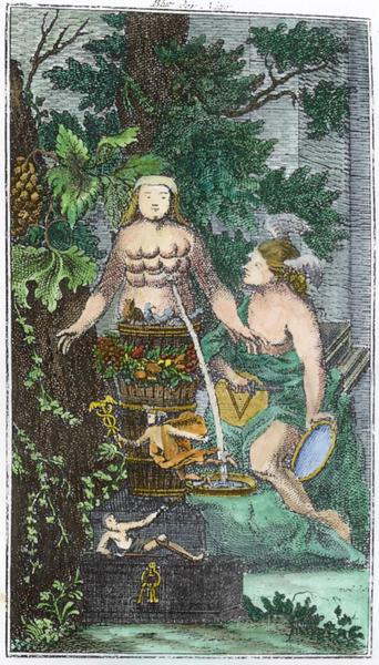Engraving from Anonymus von Schwartzfuss, Das Blut der Natur, Frankfurt and Leipzig, 1767