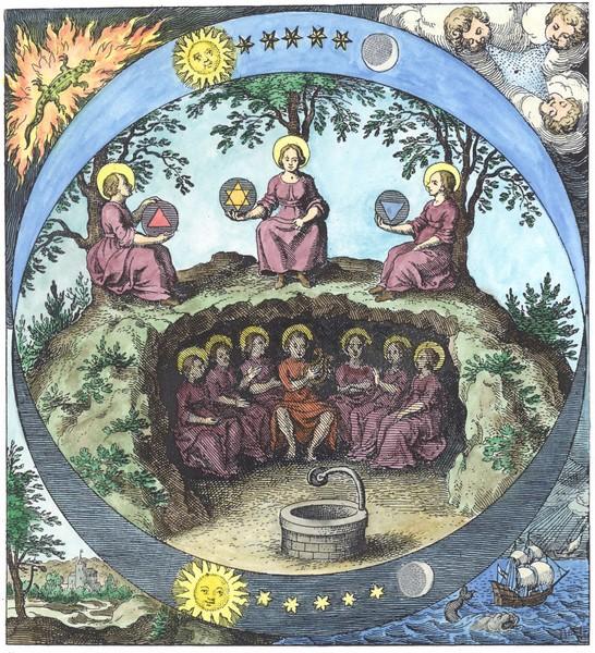 Engraving from Musaeum hermeticum, Frankfurt 1625