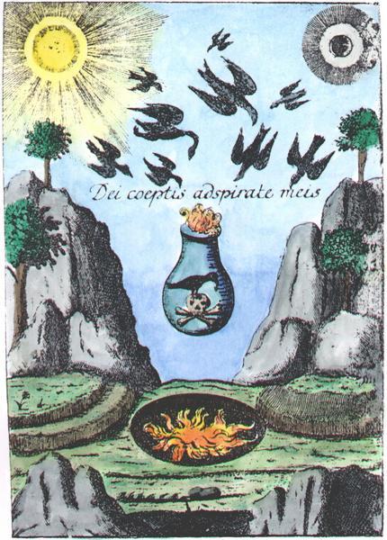 Frontispiece engraving from Microcosmische vorspiele des neuen Himmels und der neuen Erde, 1744