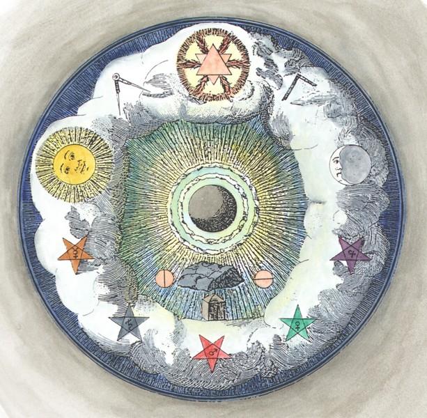 Masonic_alchemical image from Die Theoretischen Brüder oder zweite Stufe der Rosenkreutzer, 1785