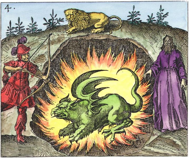 Mylius, Philosophia Reformata, 1622_slay dragon mother