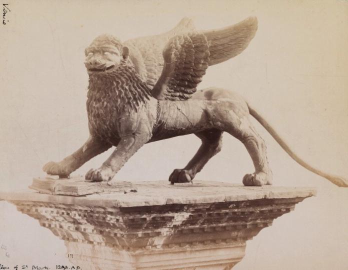 Naya,_Carlo_(1816-1882)_-_n._157_-_Venezia_-_Leone_in_Piazza_san_Marco