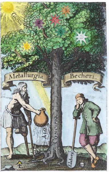 Johann Joachim Becher, Natur-Kündigung der Metallen, Frankfurt, 1661