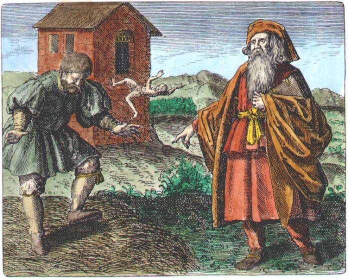 Morienus from Michael Maier, Symbola aurea mensae, Frankfurt, 1617