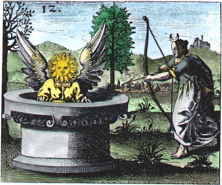 Mylius, Rosarium philosophorum (Rosary of the Philosophers) series, Philosophia Reformata, Frankfurt, 1622_MR12