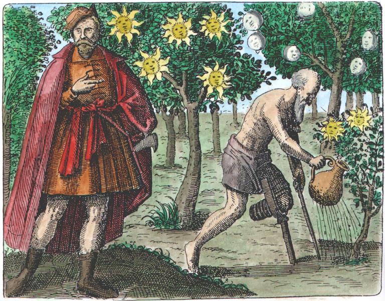 Sendivogius from Maier Symbola aurea mensae, Franckfurt, 1617