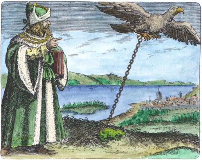 Mair_Symbola aurea mensae, Frankfurt, 1617_ Avicenna_SA02