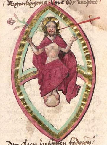 Buch der heiligen Dreifaltigkeit, late 14th Century (Munich MS, Bayerische Staatsbibliothek, CGM. 598). Source: Adam McLean, alchemywebsite.com