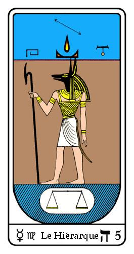 5. Le Hiérarque (Egyptien Tarot). Mercury ☿ . Virgo ♍︎, Distillation