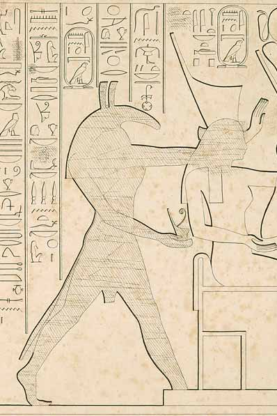Set on a late New Kingdom relief from Karnak