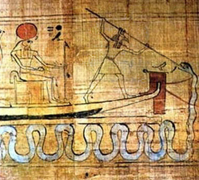 Set spears Apep, the dark chaos deity